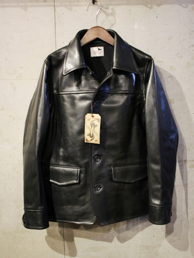 "GANGSTERVILLE    「30's CAR - COAT ""HORSE HIDE""」 ホースハイド レザーカーコート"