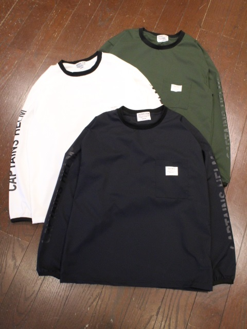 CAPTAINS HELM   「 #DOT-AIR STRETCH L/S TEE  」  ロングスリーブティーシャツ
