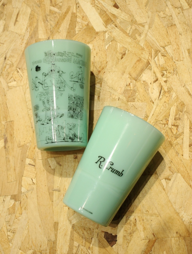 COOTIE   「 Tea House Tumbler (WORD PROCESSING MACHINE) 」 オールドミルクグラス
