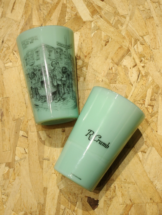 COOTIE   「 Tea House Tumbler (HAIGHT ASHBURY) 」 オールドミルクグラス