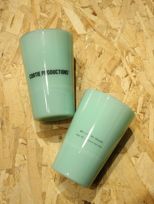 COOTIE   「 Tea House Tumbler (COOTIE LOGO) 」 オールドミルクグラス
