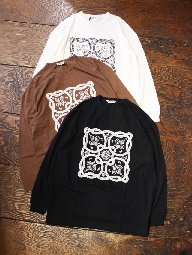 COOTIE  「Print L/S Tee (BANDANA)」  プリントロンティー