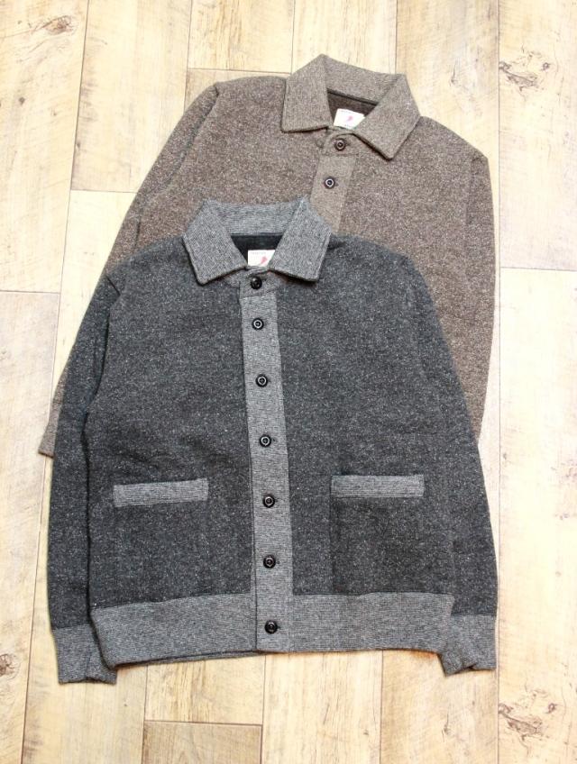 TROPHY CLOTHING  「Salt & Pepper Button Sweat Jacket」 スウェットボタンジャケット