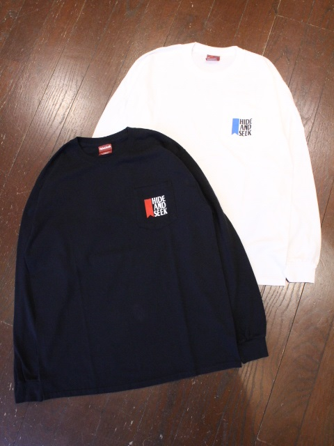 HIDEANDSEEK 「Beer Pocket L/S Tee」 ポケットロンティー