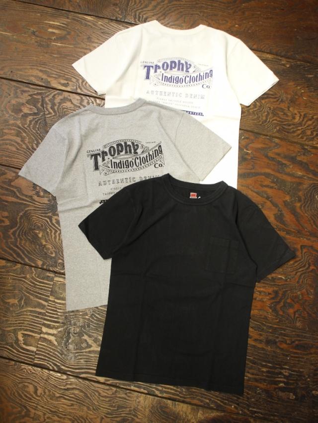 TROPHY CLOTHING  「Authentic Logo LW Tee」 ポケットプリントティーシャツ