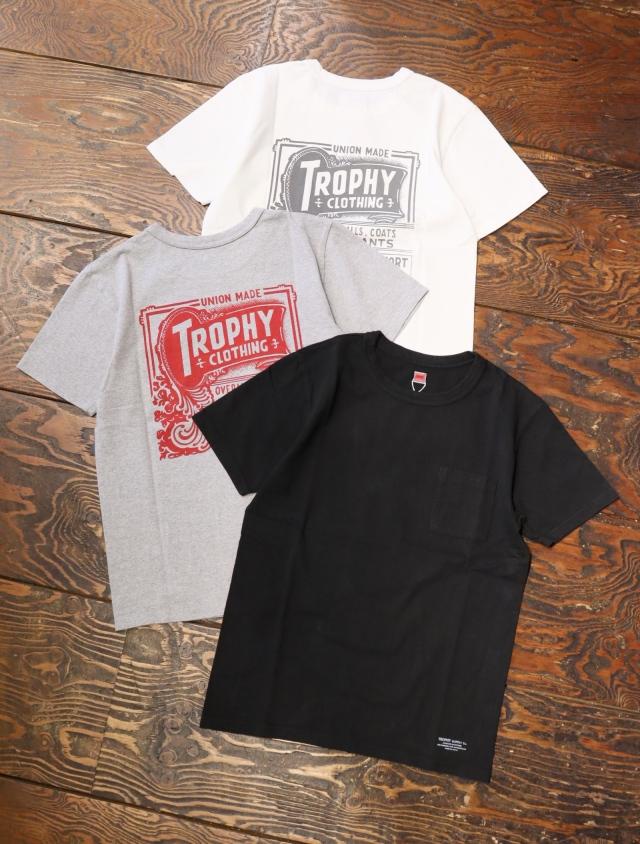 TROPHY CLOTHING  「 Union Logo LW PKT Tee 」  プリントティーシャツ