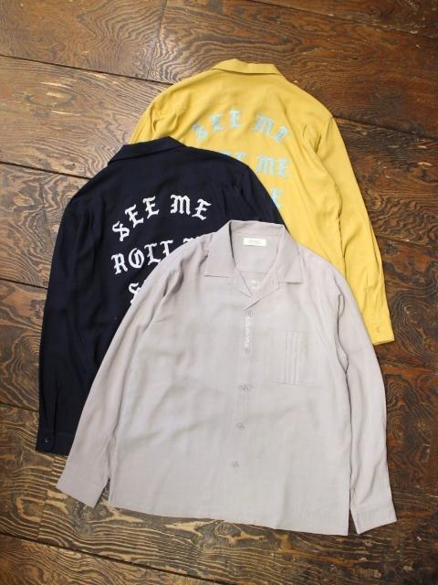 RADIALL  「REGAL - OPEN COLLARED SHIRT L/S」  オープンカラーレーヨンシャツ