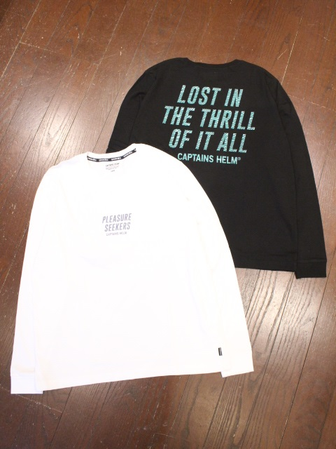 CAPTAINS HELM   「 #THRILL L/S TEE  」  プリントロンティー