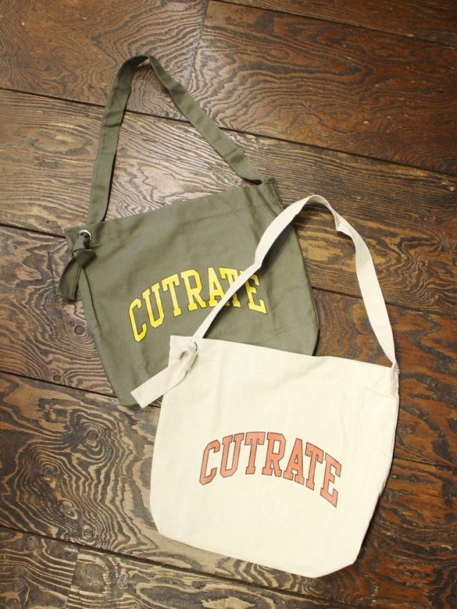 CUT RATE   「NEWS PAPER SHOULDER BAG」 キャンバスショルダーバッグ