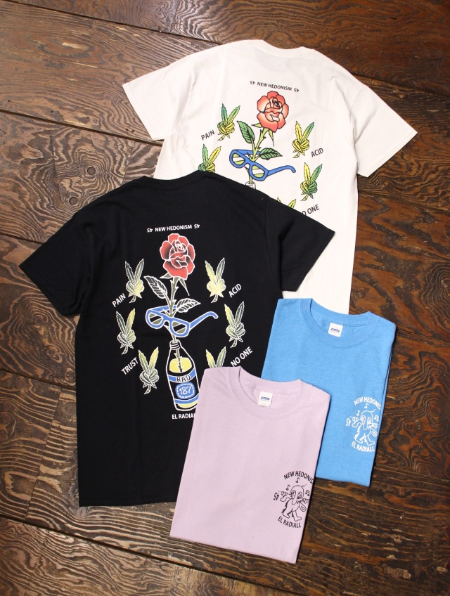 RADIALL    「HEDONISM 45 - CREW NECK T-SHIRT S/S」 プリントティーシャツ