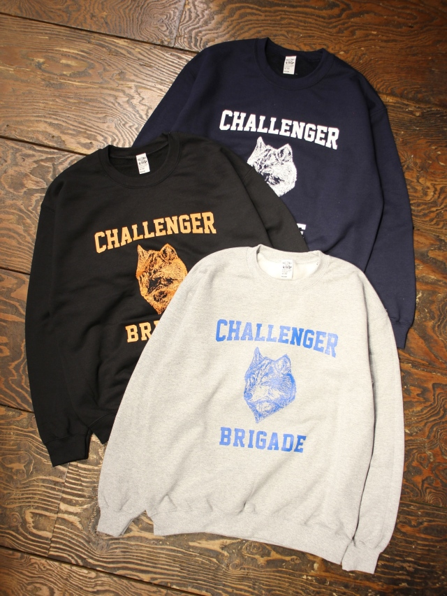 CHALLENGER   「WOLF COLLEGE C/N SWEAT」 クルーネックスウェット