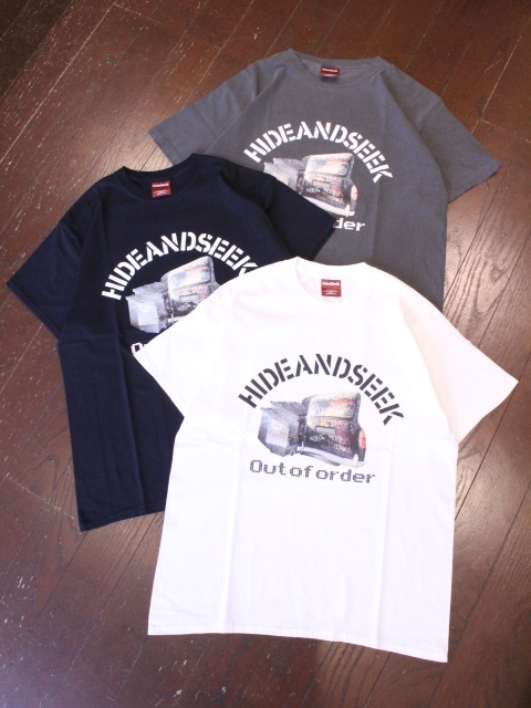 HIDEANDSEEK 「Out Of Order S/S Tee」 プリントティーシャツ