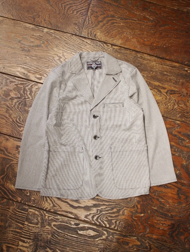 CUT RATE   「HOUNDSTOOTH PATTERN NOTCHED LAPEL JACKET」  ラペルドジャケット