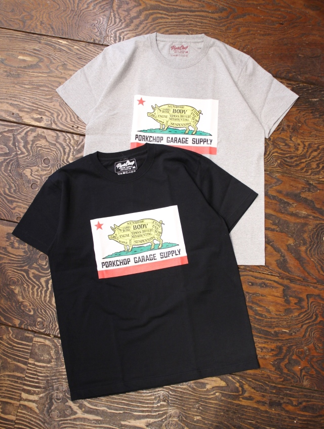 PORKCHOP GARAGE SUPPLY   「PORK CALIF TEE」  ティーシャツ
