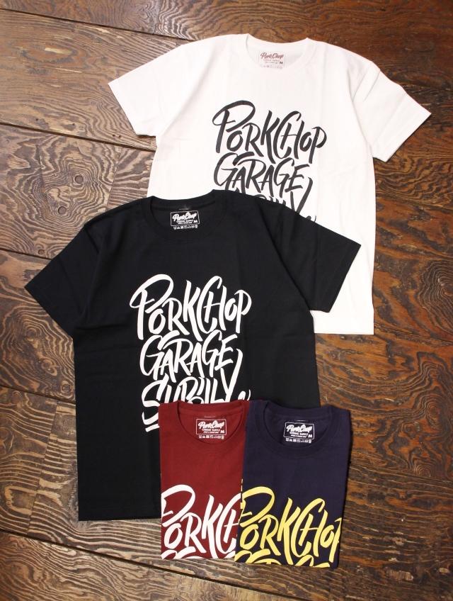 PORKCHOP GARAGE SUPPLY   「BRUSH TEE」  ティーシャツ