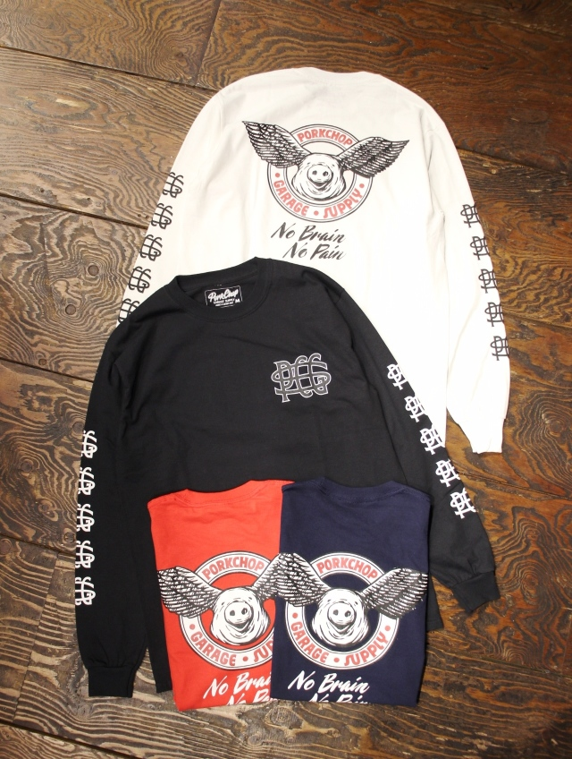 PORKCHOP GARAGE SUPPLY   「WING PORK L/S TEE 」  ロングスリーブティーシャツ