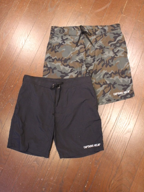 CAPTAINS HELM   「 #SOLID BOARD SHORTS 」  ナイロンショーツ