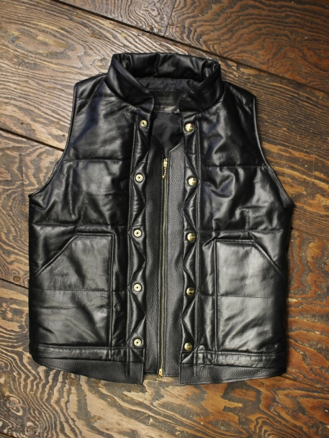 CUT RATE  「UPCYCLE LEATHER PADDING VEST」 レザーベスト