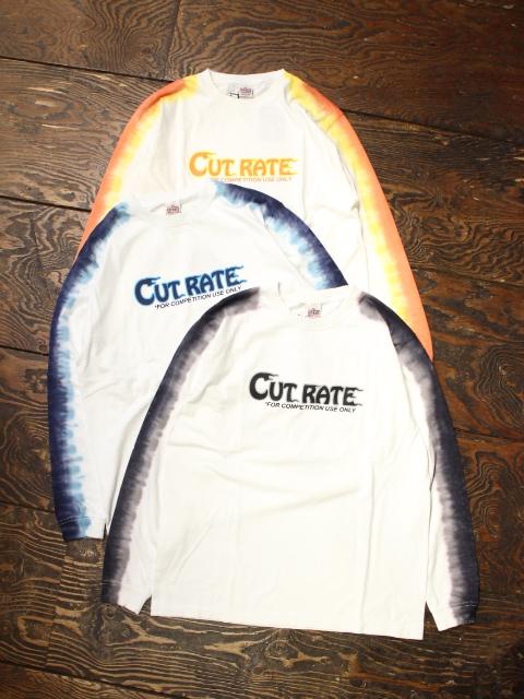 CUT RATE  「TIE DYE LOGO L/S T-SHIRT」 タイダイ染め プリントロンティー