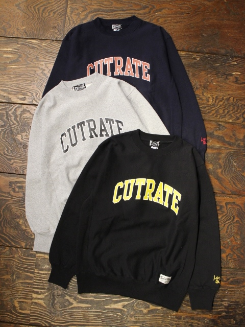 CUT RATE  「2ND COLLEGE CREW SWEAT」 クルーネックスウェット