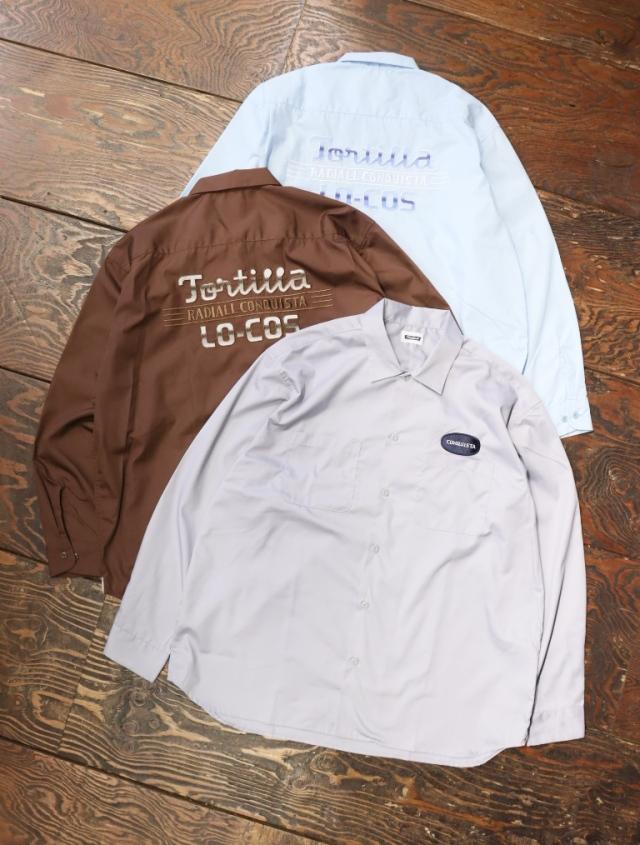 RADIALL  「TORTILLA - OPEN COLLARED SHIRT L/S」  オープンカラーワークシャツ