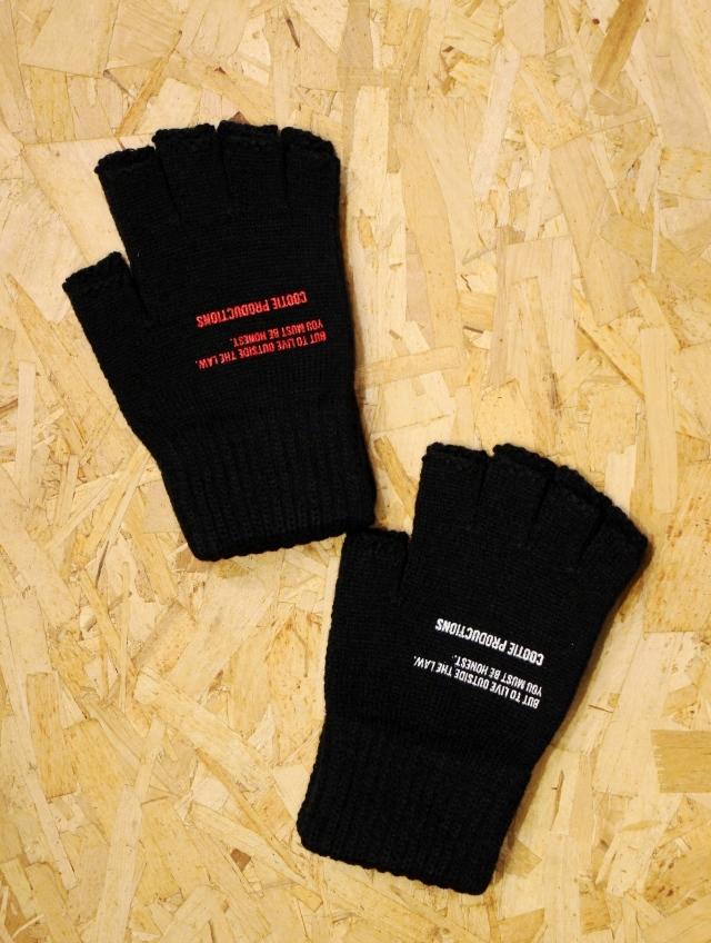 COOTIE  「Fingerless Knit Glove 」 フィンガーレスニットグローブ