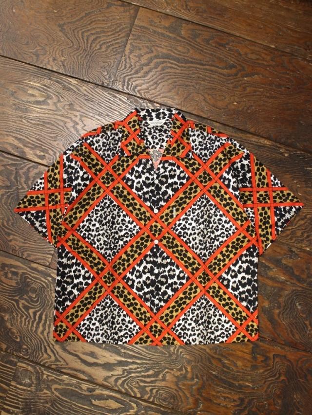 COOTIE  「Crazy Leopard Open-Neck S/S Shirt 」 オープンカラーシャツ