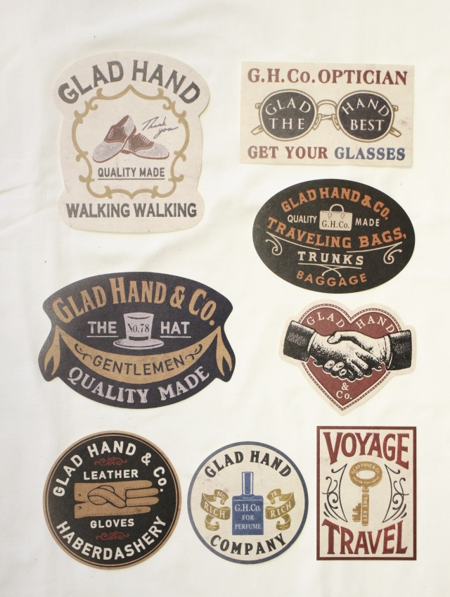 GLAD HAND   「 GH - ADVERTISING LABEL 」 ステッカーセット