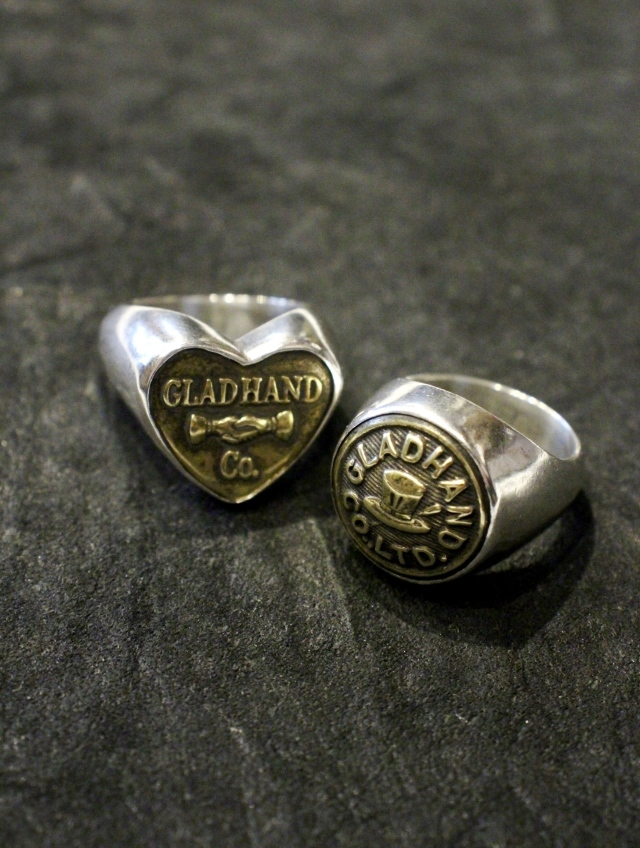 GLAD HAND   「BUTTON RING SMALL」  SILVER 925 & BRASS製 ピンキーリング