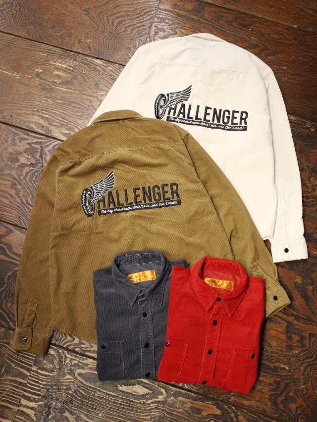 CHALLENGER    「  L/S CORDUROY WORK SHIRT」  コーデュロイシャツ