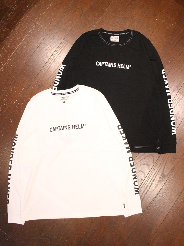 CAPTAINS HELM   「 #WONDER MAKER L/S TEE 」  プリントロンティー