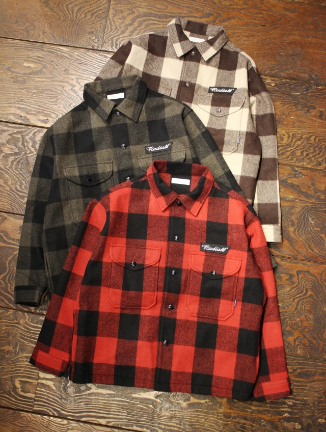 RADIALL  「FLAGS - REGULAR COLLARED SHIRT L/S」  CPOシャツ