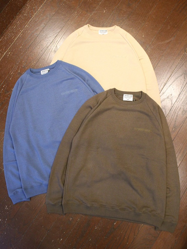 CAPTAINS HELM   「 #RECYCLE COTTON SWEAT 」  クルーネックスウェット