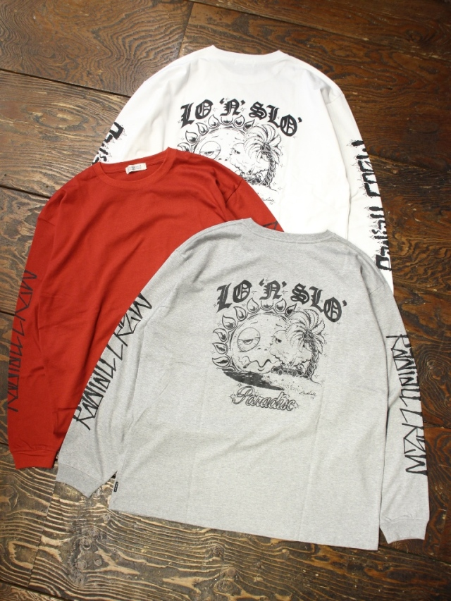 RADIALL  「PARADISE - CREW NECK T-SHIRT L/S」  プリントロンティー