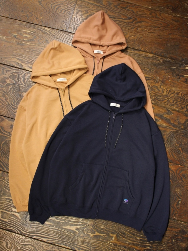 RADIALL  「THREE WAY - ZIP UP HOODED SWEATSHIRT L/S」  ジップアップパーカー