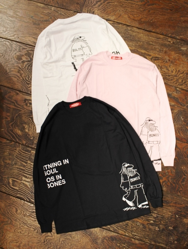 BONES & BOLTS  「L/S TEE  (COMING AND GOING)」 ロングスリーブティーシャツ