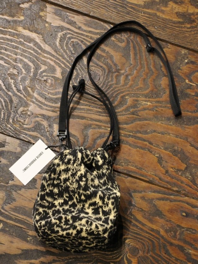 COOTIE   「Corduroy Leopard Drawstring Bag 」  コーデュロイレオパードショルダーバッグ