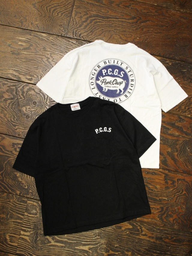 PORKCHOP GARAGE SUPPLY   「 CIRCLE PORK POCKET TEE 」 ポケットティーシャツ