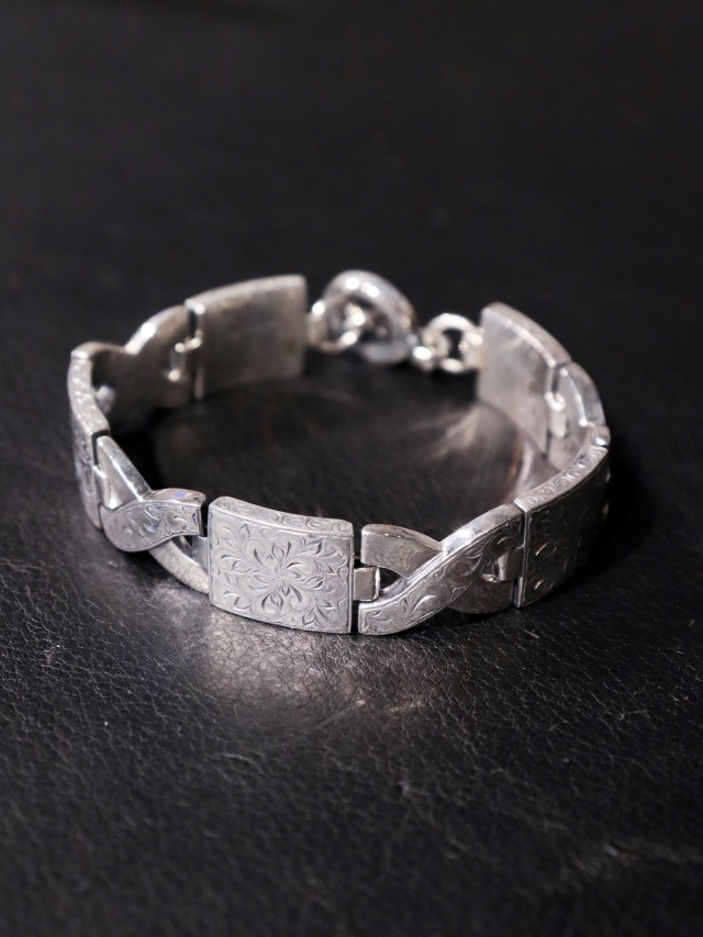 ANTIDOTE BUYERS CLUB  「Engraved Link Bracelet」  SILVER950製 ブレスレット