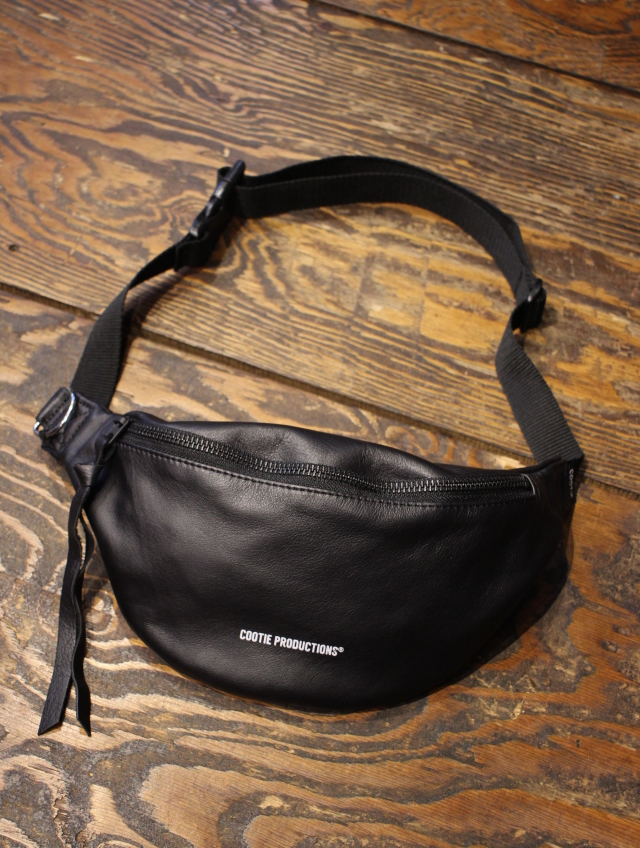 COOTIE   「 Leather Waist Pack 」  レザーウエストパック