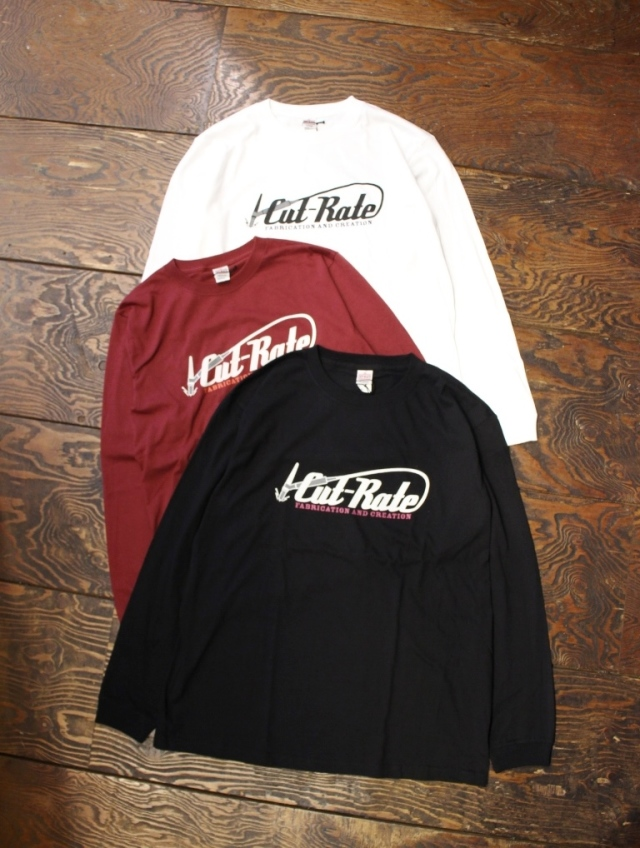 CUT RATE  「LOGO L/S T-SHIRT」 プリントロンティー