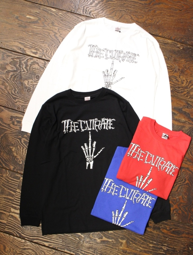 CUT RATE  「BONE FINGER L/S T-SHIRT」 プリントロンティー