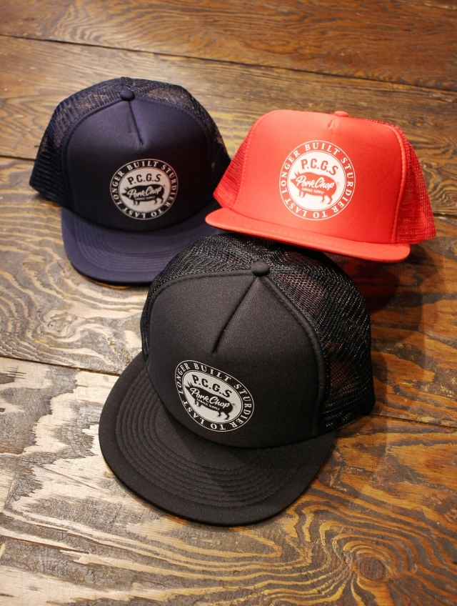 PORKCHOP GARAGE SUPPLY  「CIRCLE PORK CAP」  メッシュキャップ