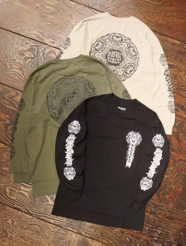 MASSES  「T-SHIRTS L/S GOBLIN」  プリントロンティー