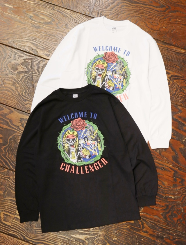 CHALLENGER  「L/S WELLCOME TO CHALLENGER TEE」  プリントロンティー