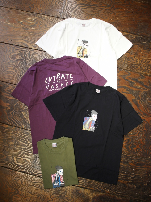 CUT RATE  「HASKEY SHARAKU T-SHIRT」 プリントティーシャツ