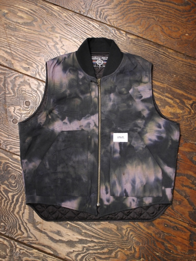 CUT RATE  「DUCK WORK VEST」 タイダイ染めワークベスト