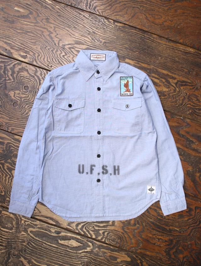UNFINISH  「L/S CHAMBRAY SHIRT」  シャンブレーシャツ