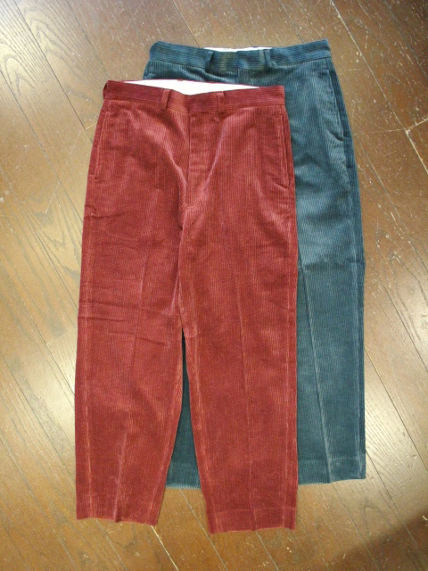 CAPTAINS HELM x TOWN CRFT  「#CORDUROY WIDE TROUSER 」  コーデュロイトラウザーパンツ