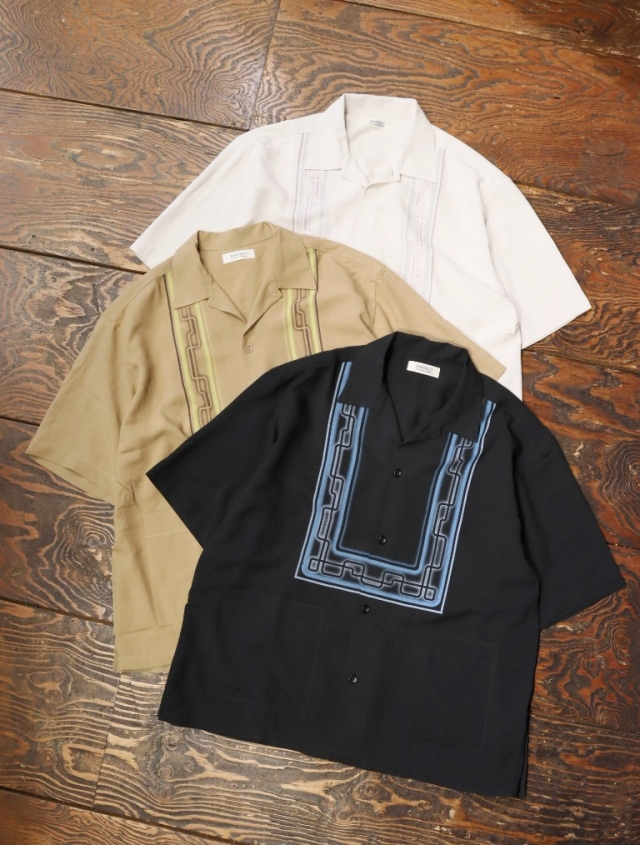 RADIALL  「WHITTIER - OPEN COLLARED SHIRT S/S」  オープンカラー レーヨンシャツ
